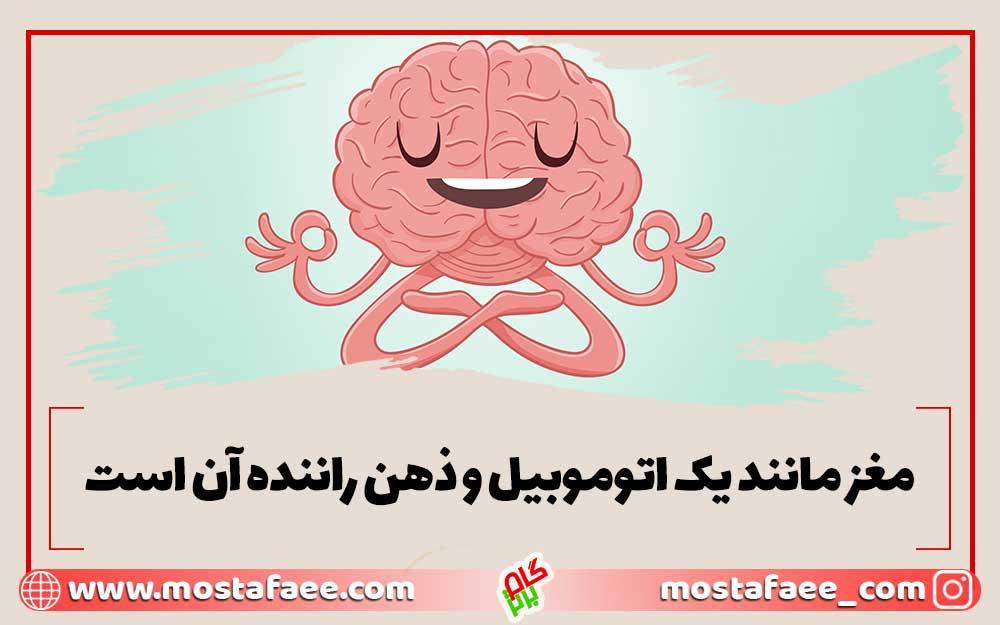 مغز مانند یک اتومبیل و ذهن راننده آن است