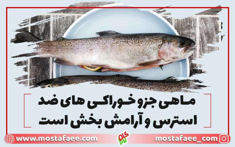 ماهی جز خوراکی های ضد استرس است و مدیریت استرس میکند