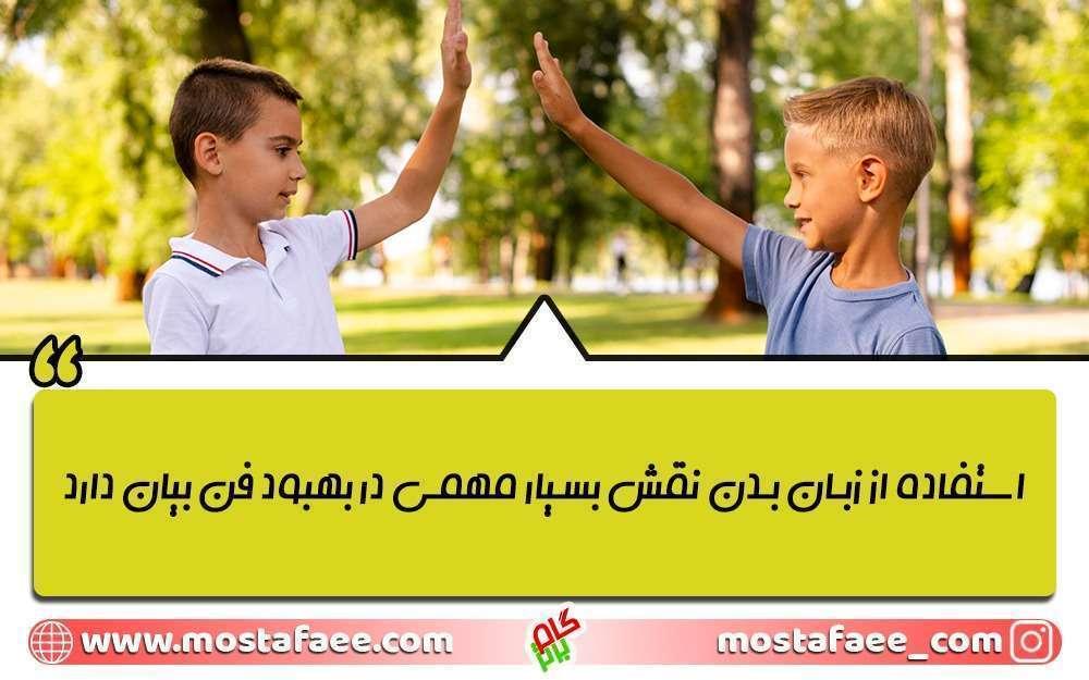 استفاده از زبان بدن نقش مهمی در تقویت فن بیان کودکان دارد