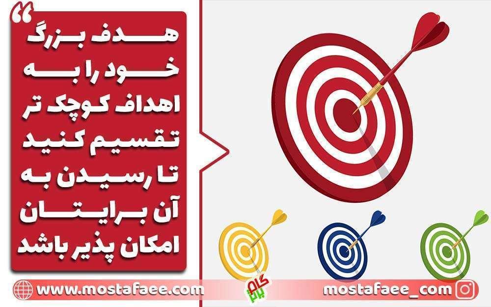 اولین تفکر موفقیت ، تبدیل هدف بزرگ به اهداف کوچک تر است