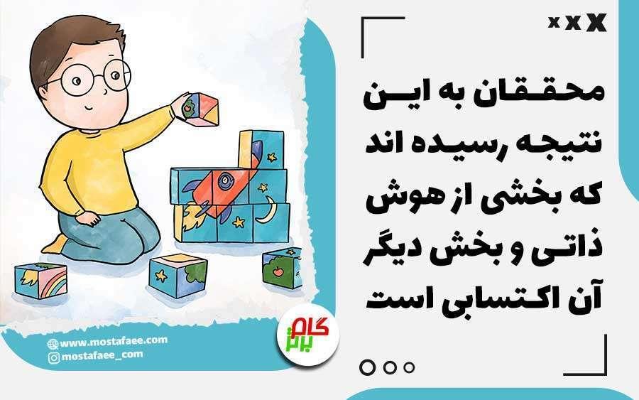 محققان در زمینه افزایش هوش کودکان به این نتیجه رسیده اند که بخشی از هوش ذاتی و بخشی اکتسابی است