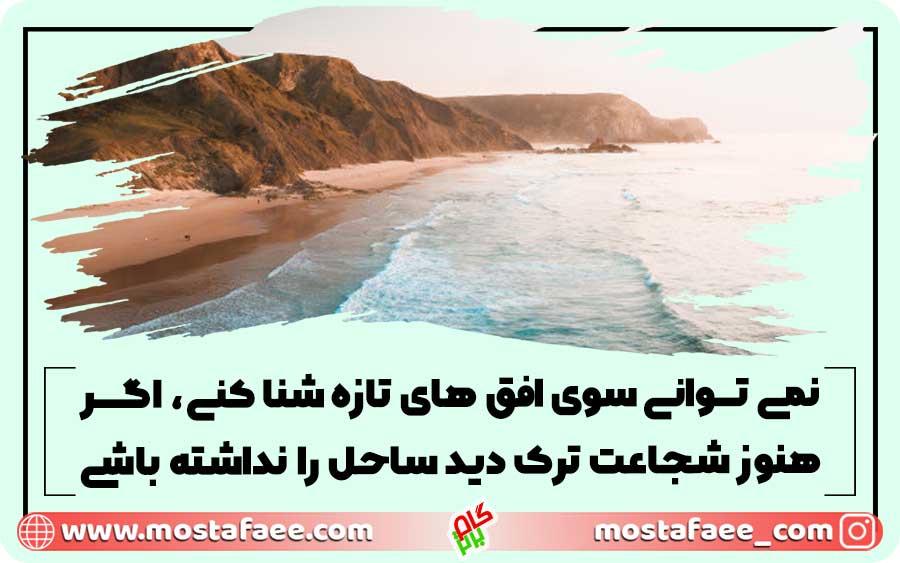 نمی توانی سوی افق های تازه شنا کنی، اگر هنوز شجاعت ترک دید ساحل را نداشته باشی